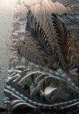 Морозная текстура на стекле Стоковое Фото