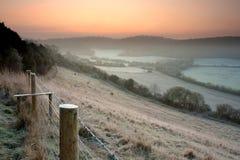 морозное сельской местности английское стоковое изображение rf