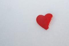 Морозное сердце стоковая фотография rf
