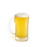 Морозное стекло комплекта светлого пива изолированного на белизне Стоковая Фотография RF