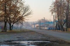Морозное утро осени Стоковое Изображение RF