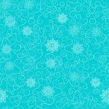 морозные картины на голубой предпосылке, безшовная картина Стоковое Изображение RF