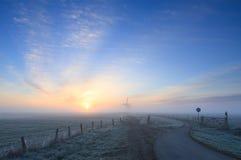 Морозный, голландский восход солнца Стоковое Изображение RF