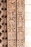 Морокканская античная деревянная предпосылка двери текстуры Стоковая Фотография