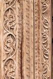Морокканская античная деревянная предпосылка двери текстуры Стоковое Изображение RF
