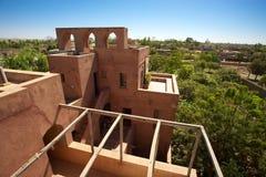 Морокканская архитектура в земле Mopti Dogon Стоковые Фото