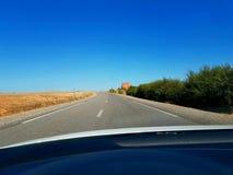 Морокканская дорога сельской местности стоковое фото