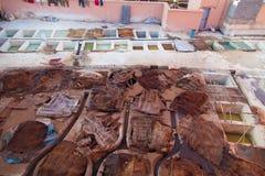 Морокканская дубильня в marrakech 2018 Стоковое Фото