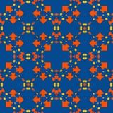 Морокканская плитка - безшовная картина на голубой предпосылке иллюстрация вектора