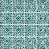 Морокканская плитка мозаики, керамическое украшение мечети, Марокко Стоковые Изображения