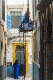 Морокканская сцена улицы Стоковое Фото