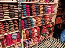 Морокканские кожаные ботинки Стоковое Изображение RF