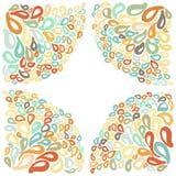 Морокканские орнаменты плитки в других цветах Стоковое Фото