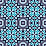 Морокканские плитки - безшовная картина иллюстрация вектора