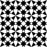 Морокканские плитки конструируют, геометрическая безшовная черная картина плитки бесплатная иллюстрация