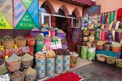 Морокканский магазин специи в Африке Стоковые Изображения RF