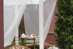 морокканский романтичный чай установки Стоковое Изображение