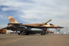 Морокканский самолет двигателя истребителя F-16 военновоздушной силы Стоковые Фото