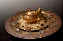 морокканский чай обслуживания Стоковая Фотография