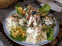 Морокканский vegetable салат с морепродуктами Стоковое Изображение