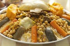 Морокканское блюдо кускус Стоковые Изображения RF
