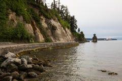 Морская дамба парка Стэнли стоковое фото