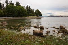 Морская дамба парка Стэнли стоковое изображение