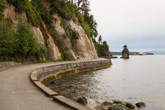 Морская дамба парка Стэнли стоковое фото rf