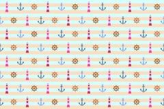 Морская безшовная предпосылка картины Стоковое Фото