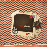 Морская винтажная карточка, шаблон scrapbook Стоковая Фотография