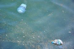 морская вода загрязнения океана принципиальной схемы Стоковое Изображение RF