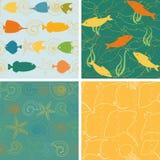 Морская жизнь делает по образцу собрание 2 бесплатная иллюстрация