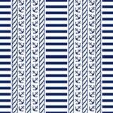 морская картина безшовная также вектор иллюстрации притяжки corel Стоковое Изображение
