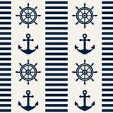 морская картина безшовная также вектор иллюстрации притяжки corel Стоковые Фото