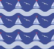 морская картина безшовная Стоковые Изображения RF