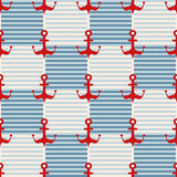 морская картина безшовная Стоковое Изображение RF