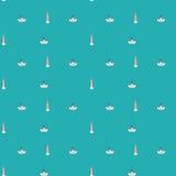 морская картина безшовная Стоковое Фото