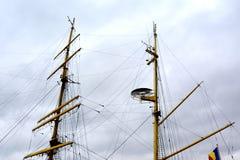 Морская Корабл-школа MIRCEA Гавань Constanta на Чёрном море Рангоут Стоковое Изображение
