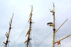 Морская Корабл-школа MIRCEA Гавань Constanta на Чёрном море Рангоут Стоковая Фотография RF