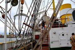 Морская Корабл-школа MIRCEA Гавань Constanta на Чёрном море Рангоут Стоковое Фото