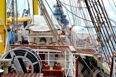 Морская Корабл-школа MIRCEA Гавань Constanta на Чёрном море Рангоут Стоковые Изображения RF