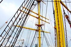 Морская Корабл-школа MIRCEA Гавань Constanta на Чёрном море Рангоут Стоковые Изображения