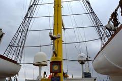 Морская Корабл-школа MIRCEA Гавань Constanta на Чёрном море Рангоут Стоковая Фотография