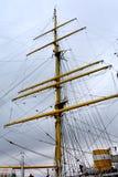 Морская Корабл-школа MIRCEA Гавань Constanta на Чёрном море Рангоут Стоковое Изображение RF