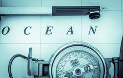 Морская навигация - альбомный формат Стоковые Изображения RF