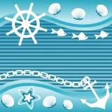 Морская предпосылка Стоковое Фото