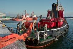 Морская работа пожарного. стоковые фото