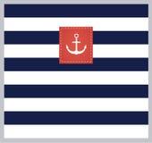 Морская, ретро, стильная предпосылка Стоковое Изображение RF