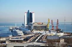 Морская станция в Одессе, Украине Стоковая Фотография