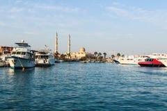 Морская стоянка в Hurghada стоковая фотография